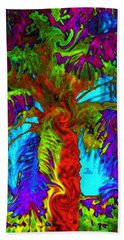 Shade Trees On Venus Beach Towel by Alec Drake