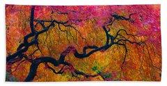 Shades Of Autumn Beach Towel by Patricia Babbitt