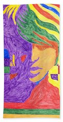 Beach Towel featuring the painting Prince Gemini   by Stormm Bradshaw