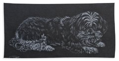 Shadow Beach Towel by Michele Myers