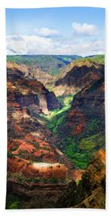 Shadows Of Waimea Canyon Beach Towel