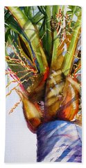 Shady Palm Tree Beach Towel