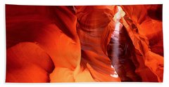 Shaft Of Sunlight In A Canyon, Antelope Beach Towel