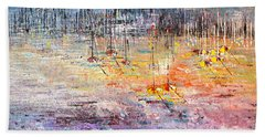 Shallow Water - Sold Beach Towel by George Riney