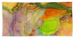 Shaman And Spirit Animals Beach Towel by  Heidi Scott