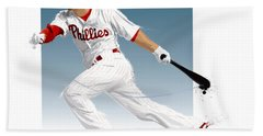 Shane Victorino Beach Towel by Scott Weigner