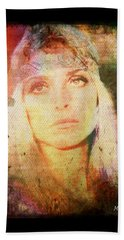 Sharon Tate - Angel Lost Beach Towel by Absinthe Art By Michelle LeAnn Scott