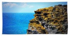 Sharp Cliff Beach Towel by Amanda Eberly-Kudamik