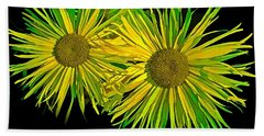 Shasta Daisies Beach Sheet