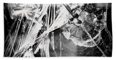Beach Towel featuring the photograph Shatter - Black And White by Joseph Skompski
