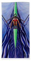 She Scull By O4rsom. Rowing Sport Of Champions Beach Towel