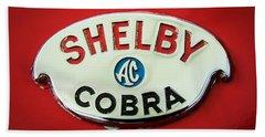 Shelby Ac Cobra Emblem -0282c Beach Towel