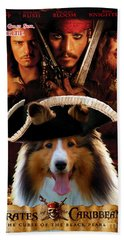 Sheltie - Shetland Sheepdog Art Canvas Print - Pirates Of The Caribbean The Curse Of The Black Pearl Beach Towel