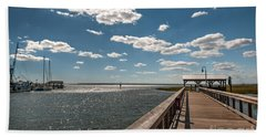 Shem Creek Pavilion  Beach Towel