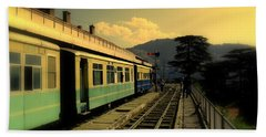 Shimla Railway Station Beach Towel