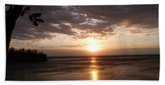 Beach Towel featuring the photograph Shimmering Sunrise by James Peterson