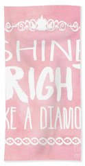 Shine Bright Beach Towel by Pati Photography