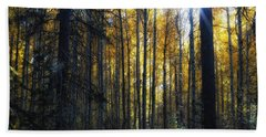 Beach Towel featuring the photograph Shining Through by Belinda Greb