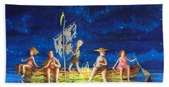 Beach Sheet featuring the painting Ship Of Fools by Matt Konar