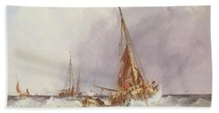Shipping In The Solent 19th Century Beach Towel