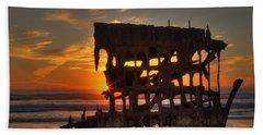 Shipwreck Sunburst Beach Towel