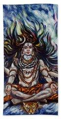 Shiva - Ganga - Harsh Malik Beach Towel