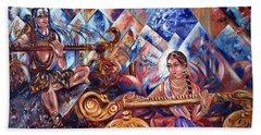 Shiva Parvati Beach Towel by Harsh Malik