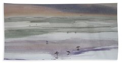 Shoreline Birds II Beach Towel
