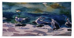 Shoreline Birds Iv Beach Sheet