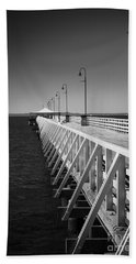 Shorncliffe Pier In Monochrome Beach Towel