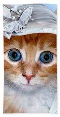 Shotgun Bride  Cats In Hats Beach Sheet by Michele Avanti