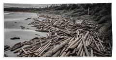Shoved Ashore Driftwood  Beach Sheet
