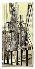 Shrimp Boat Beach Towel by Debra Forand