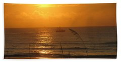 Shrimp Boat Sunrise Beach Towel
