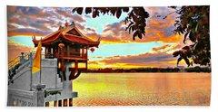 Shrine On The Lake. Beach Towel