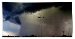 Beach Towel featuring the photograph Shrouded Tornado by Ed Sweeney