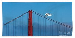 Shuttle Endeavour At The Golden Gate Beach Towel by Kate Brown