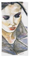 Shy Lady Beach Towel