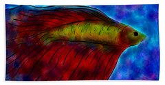 Siamese Fighting Fish II Beach Towel