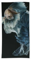 Siamese Fighting Fish Three Beach Towel