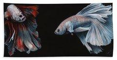 Siamese Fighting Fish  Beach Towel