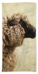 Side Face Of A Sheep Beach Towel