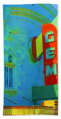 Sign - Gem Theater - Jazz District  Beach Towel