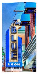 Sign - The Blue Room - Jazz District Beach Towel