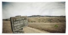 Signs For Hikers On Santa Cruz Island Beach Towel