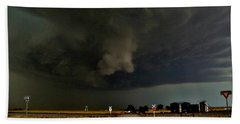 Beach Towel featuring the photograph Signs Of A Supercell by Ed Sweeney