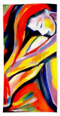 Beach Towel featuring the painting Silence by Helena Wierzbicki