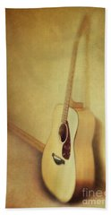 Silent Guitar Beach Towel by Priska Wettstein