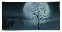 Silent Winter Evening  Beach Towel