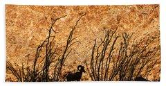 Silhouette Bighorn Sheep Beach Sheet